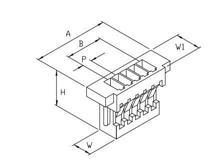 10個- JP1000-4 連接器