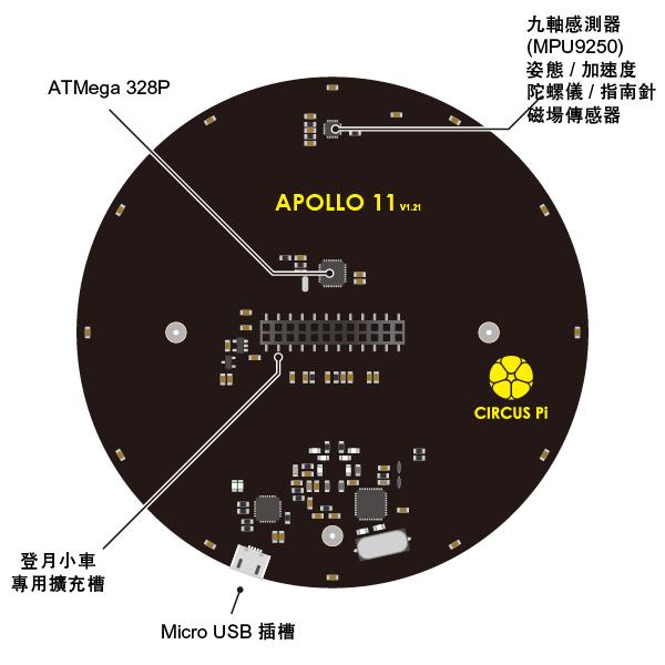 APOLLO 11號 背面規格
