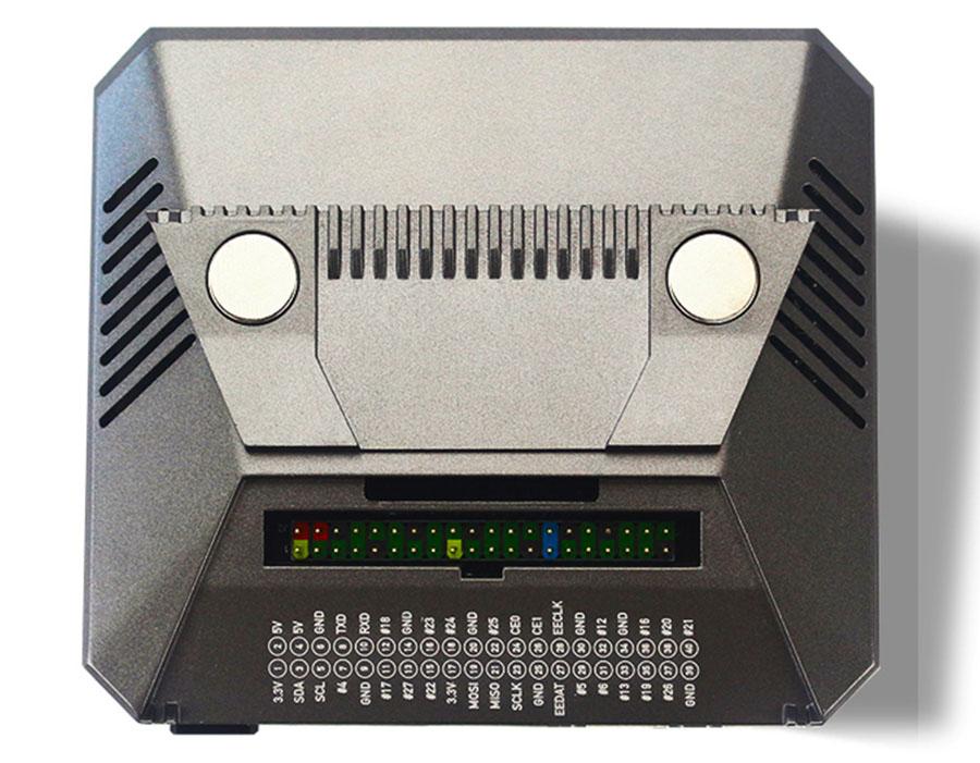 Raspberry Pi 4B 4代鋁合金外殼 V2 GPIO位置